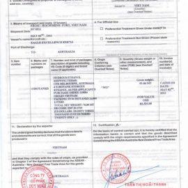 Dịch vụ xin cấp giấy chứng nhận xuất xứ (CO)