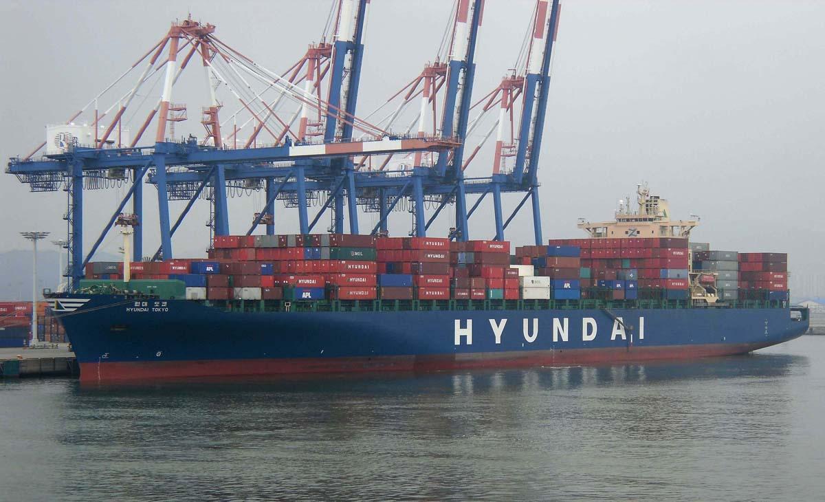 Dịch vụ vận tải container đường biển đi cảng Hàn Quốc