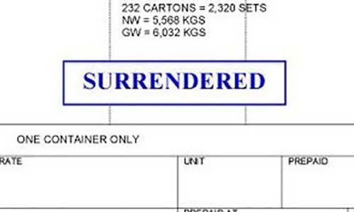 Được đóng dấu Surrender