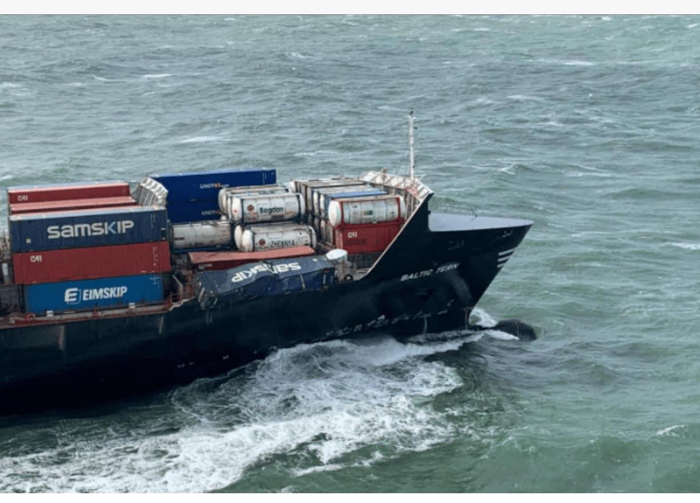 Baltic-Tern mất container ở biển Bắc