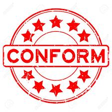 Lưu ý về luu-y-về Certificate of conformity